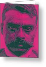 Zapata Intenso Greeting Card by Roberto Valdes Sanchez