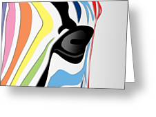 Zebra 1 Greeting Card by Mark Ashkenazi