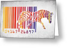 zebra barcode Greeting Card by Mark Ashkenazi