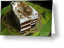 Zebra Cake Greeting Card by Ausra Paulauskaite