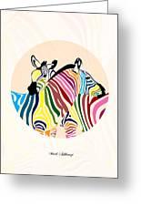 Zebra Greeting Card by Mark Ashkenazi
