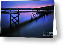 Zen At Lake Waramaug Greeting Card by Thomas Schoeller