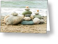 Zen Meditation Balance Greeting Card by Artist and Photographer Laura Wrede