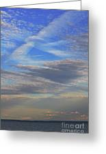 Zen Skies Abstract Greeting Card by AdSpice Studios
