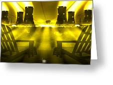 Zero Hour In Yellow Greeting Card by Mike McGlothlen