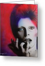 'ziggy Stardust' Greeting Card by Christian Chapman