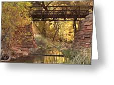 Zion Bridge Greeting Card by Adam Romanowicz
