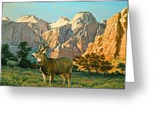 Zioncountry Muleys Greeting Card by Paul Krapf