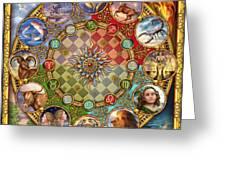 Zodiac Mandala Greeting Card by Ciro Marchetti