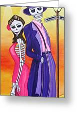 Zoot Suit Greeting Card by Evangelina Portillo
