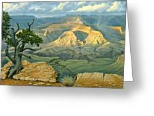 Zoroaster Temple From Yaki Point Greeting Card by Paul Krapf