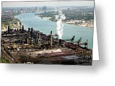 Zug Island Industrial Area Of Detroit Greeting Card by Bill Cobb