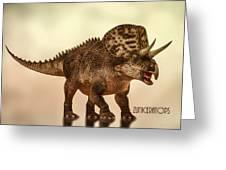 Zuniceratops Dinosaur Greeting Card by Bob Orsillo