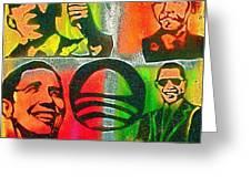 4 Barack  Greeting Card by Tony B Conscious