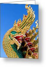 Asian Temple Dragon   Greeting Card by Panyanon Hankhampa