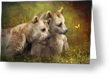 Bear Hugs Greeting Card by Trudi Simmonds