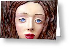 Blue-eyed Girl Greeting Card by Yelena Rubin