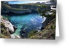 China Cove Greeting Card by Mike Herdering
