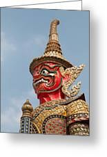 Demon Guardian Statues At Wat Phra Kaew Greeting Card by Panyanon Hankhampa
