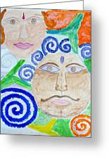 Faces Greeting Card by Sonali Gangane
