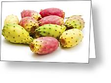 Fruits Of Opuntia Ficus-indica  Greeting Card by Fabrizio Troiani