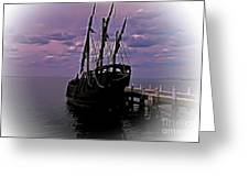 Notorious The Pirate Ship 5 Greeting Card by Blair Stuart