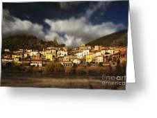 Roquebrun Greeting Card by Paul Grand