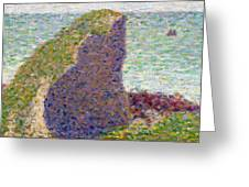 Study For Le Bec Du Hoc Greeting Card by Georges Pierre Seurat