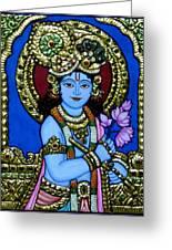 Tanjore Painting Greeting Card by Vimala Jajoo