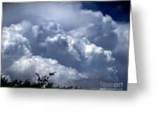 The Rain God Greeting Card by Richard Burr