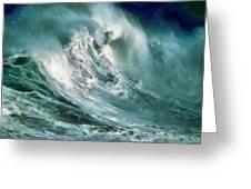 Tsunami - Raging Sea Greeting Card by Russ Harris