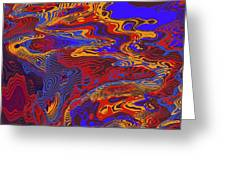 0696 Abstract Thought Greeting Card by Chowdary V Arikatla