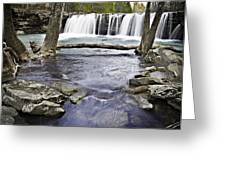 0804-3327 Falling Water Falls 1 Greeting Card by Randy Forrester