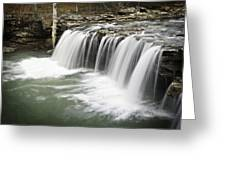 0805-005b Falling Water Falls 2 Greeting Card by Randy Forrester