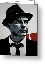 - Sinatra - Greeting Card by Luis Ludzska