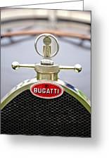 1923 Bugatti Type 23 Brescia Lavocat Et Marsaud Hood Ornament  Greeting Card by Jill Reger