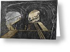 19th-century Mining Greeting Card by Sheila Terry