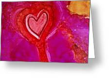 2nd Heart Greeting Card by Joyce Auteri