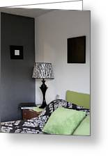 A Bedroom In A House. A Double Bed Greeting Card by Christian Scully