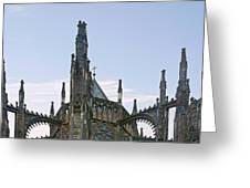 A Forest Of Spires - St Vitus Cathedral Prague Greeting Card by Christine Till