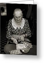 A Lacemaker In Bruges Greeting Card by RicardMN Photography