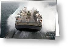 A Landing Craft Air Cushion Enters Greeting Card by Stocktrek Images