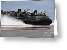A U.s. Navy Landing Craft Air Cushion Greeting Card by Stocktrek Images