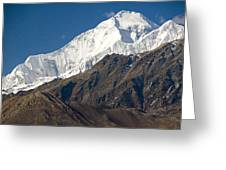 A View Of Dhaulagiri From The North Greeting Card by Stephen Sharnoff