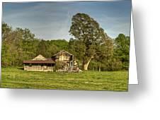 Abandoned Collapsed Farm House Greeting Card by Douglas Barnett
