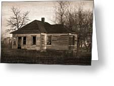 Abandoned Farm House Greeting Card by Richard Wear