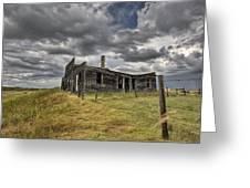 Abandoned Farmhouse Saskatchewan Canada Greeting Card by Mark Duffy