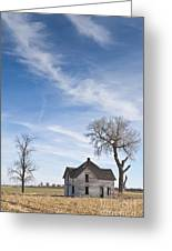 Abandoned House In Field Greeting Card by Dave & Les Jacobs