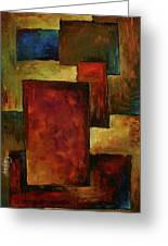 Abstract Greeting Card by Michael Lang