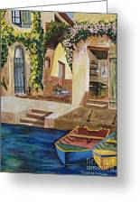 Afternoon At The Piazzo Greeting Card by Kimberlee Weisker